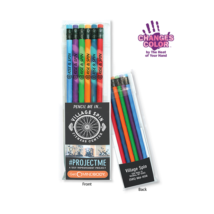 Create-A-Pack Pencil Set of 6 - Mood Pencils w/ Colored Eraser