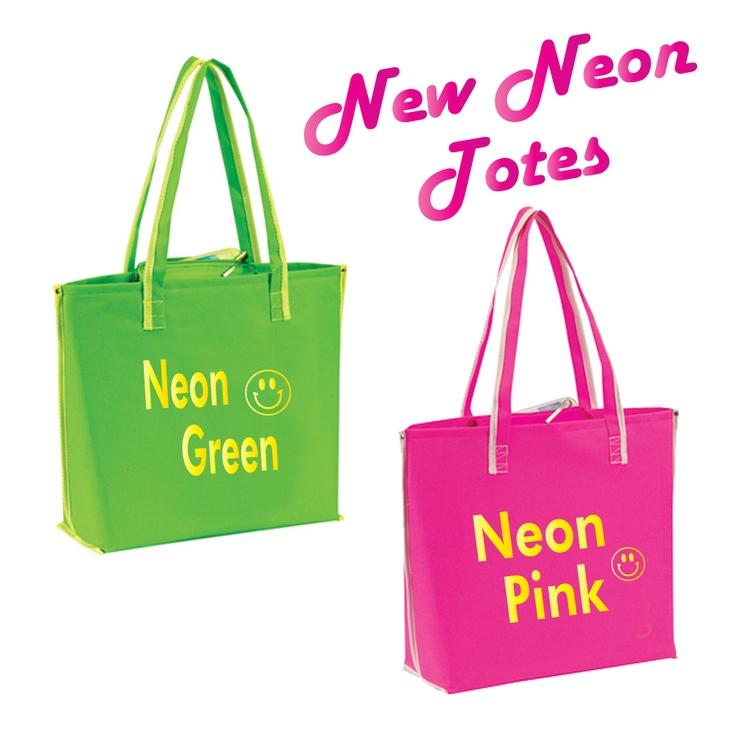 Neon Lambent Shopping Tote Bag