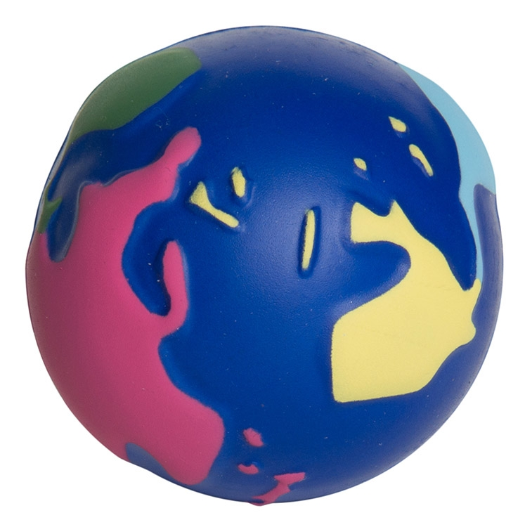 Multi-Color Earth Squeezies Stress Ball