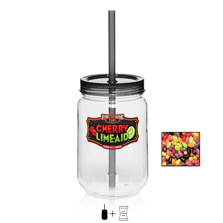 Mason Jar with Jelly Beans - 25 oz.