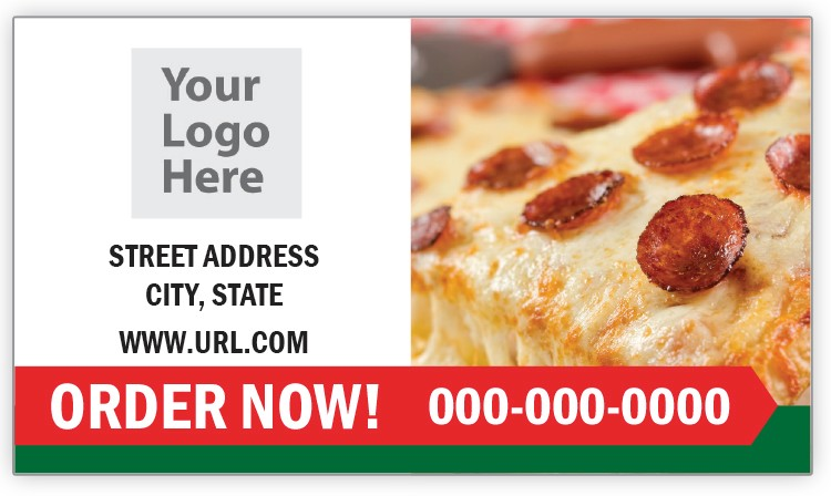 Pepperoni Business Card Magnet