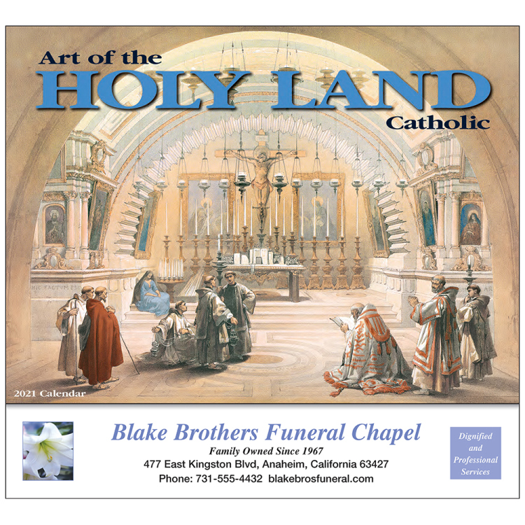 Art of the Holy Land Appointment Calendar, Catholic Version
