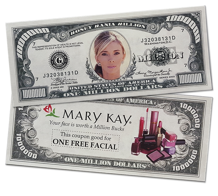 Full Color Custom Million Dollar Bill - with Four Color Process - MM-1073