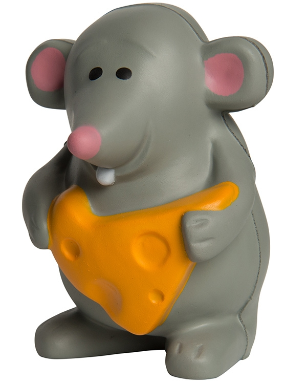 Mouse with Cheese Squeezies Stress Reliever