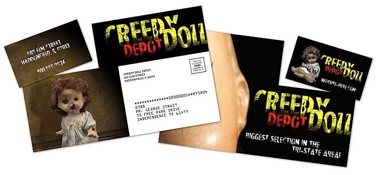 Extra-Thick Laminated Postcard with Detachable Horizontal Business Card - 24 pt.
