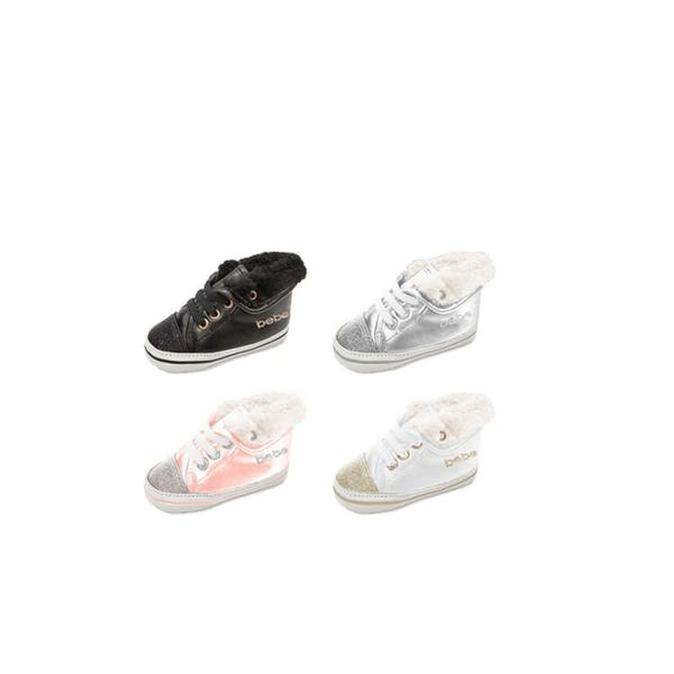 High Over With Collar Fur Sneaker And Top Infant Toe Glitter Faux Fold UpSVMz