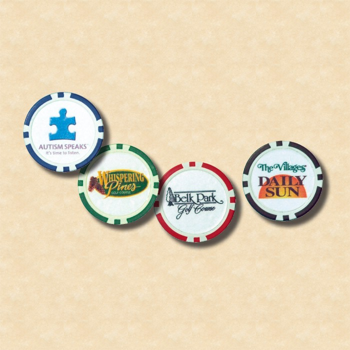 Full Color Two Sides Poker Chip  - Uncoated