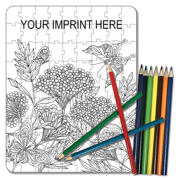 COLORING PUZZLE SET - Adult Coloring Nature (81 Piece)