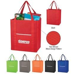 Non-Woven Wave Shopper Tote Bag