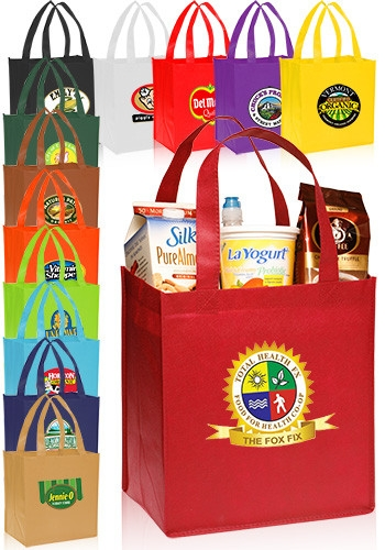 Non-Woven Grocery Tote Bag - 12 W x 13 H