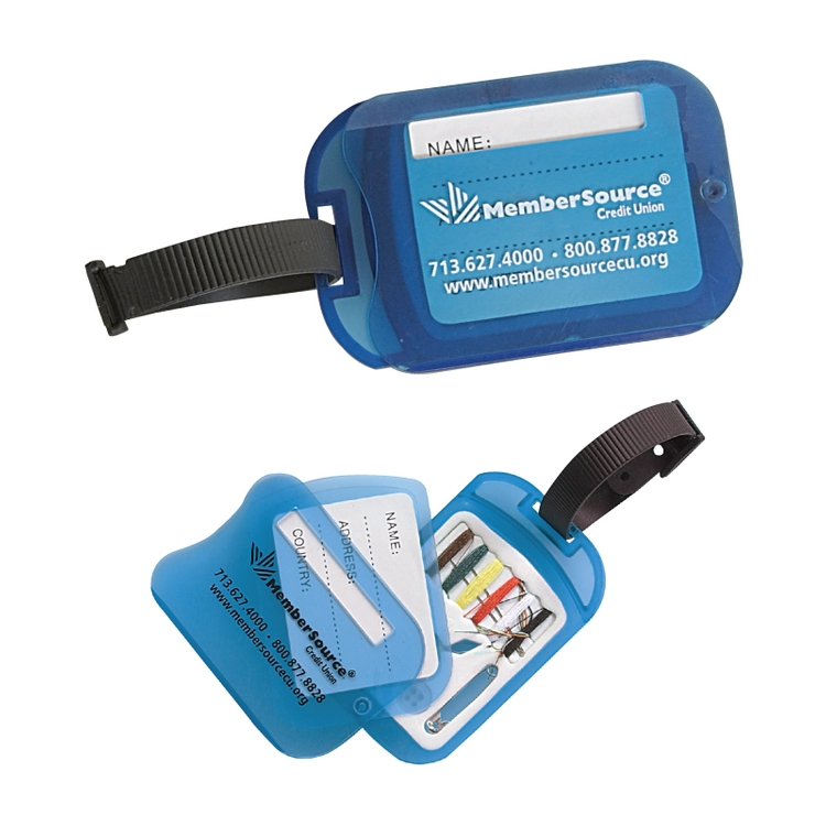 Clearance Item! Luggage Tag w/Swiveling Mini Sewing Kit