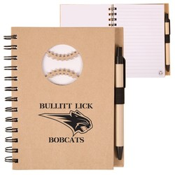 EcoShapes™ Recycle Die Cut Notebook: Baseball
