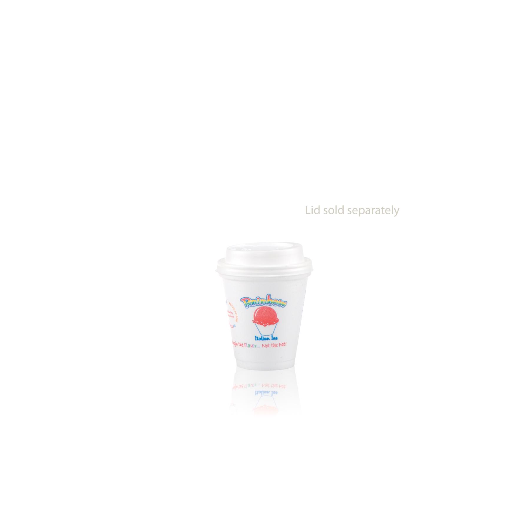 8 oz Foam Cup - White - Hi-Speed