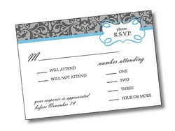 Wedding RSVP Card Flat - 3.5x5 - 10 pt. Coated Paper