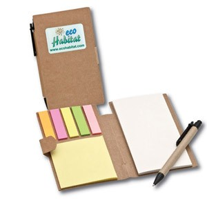Recycled Pocket Jotter w/ Sticky Notes, Pad & Pen