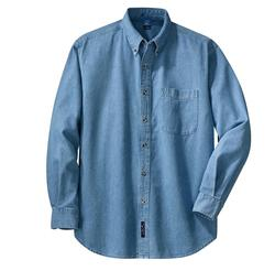 Port & Company - Long Sleeve Value Denim Shirt.