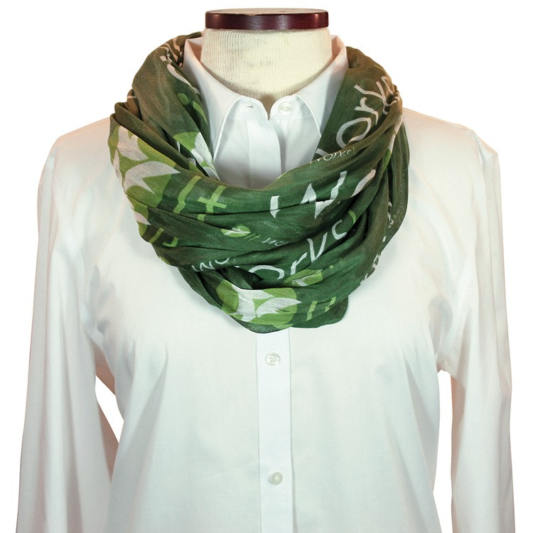 Custom Wet Dye Cotton Infinity Scarf