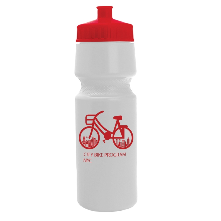 24. oz. Venture Bike Bottle - HDPE Sports Bottle with Push-Pull cap