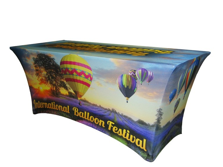 Full Color 6 Fitted Table Cover 3 Sided Spandex Fabric 6ft Dg