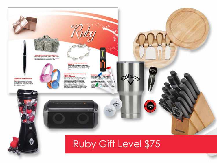 $75 Gift of Choice (Ruby Level) Gift Booklet