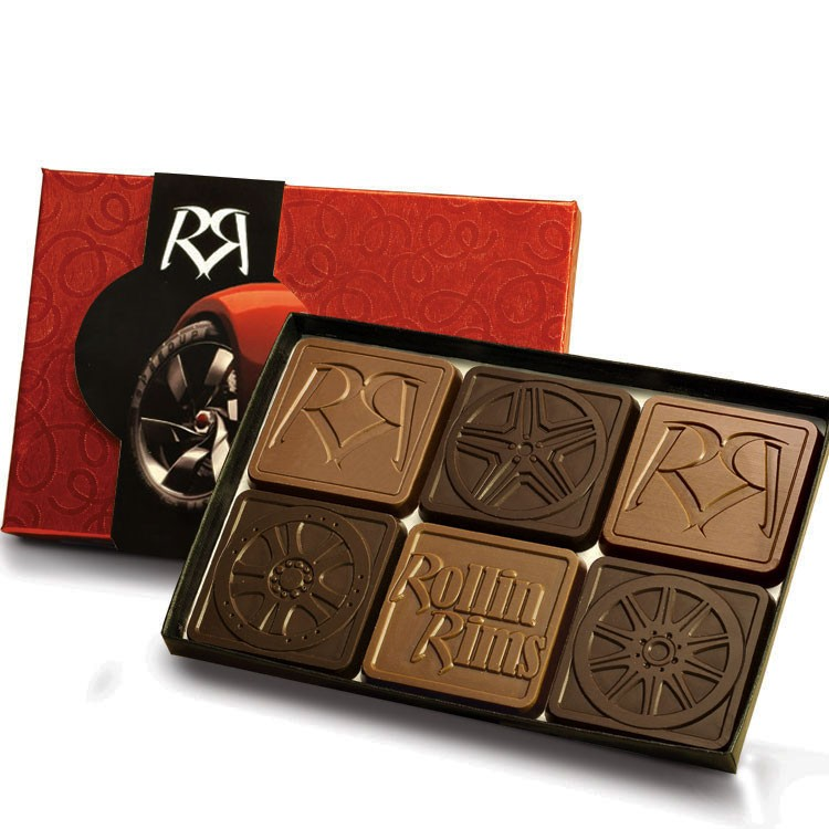 6-Piece Chocolate Assortment with Gift Lid