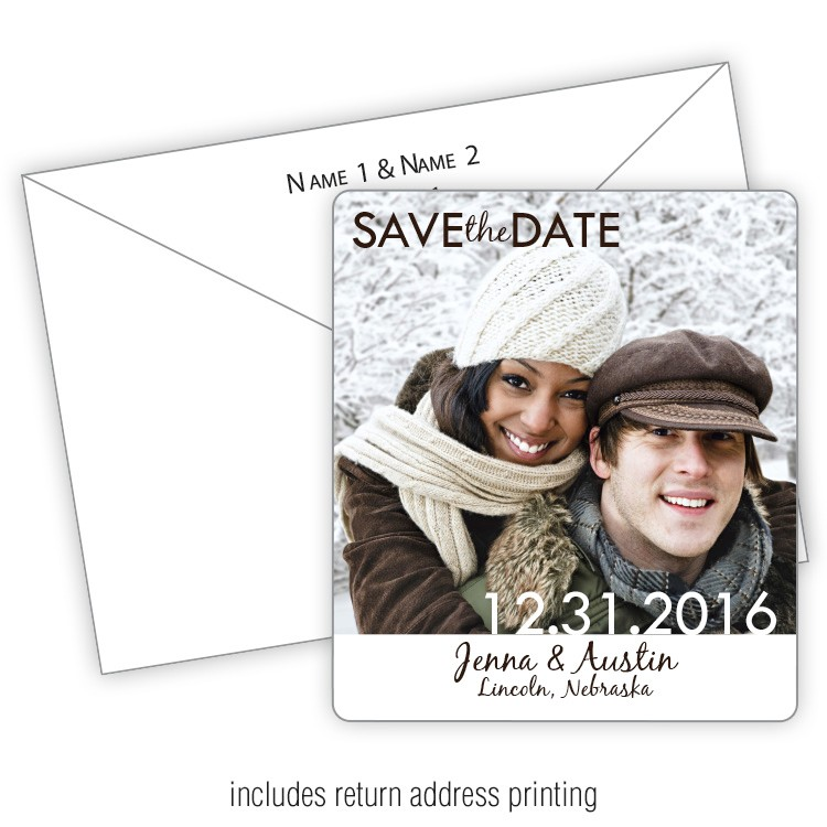 3.5x4 Wedding Magnet with FREE Printed Envelopes - FI #233