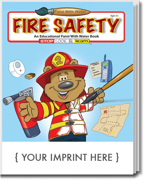 PAINT WITH WATER - Fire Safety Paint with Water Book