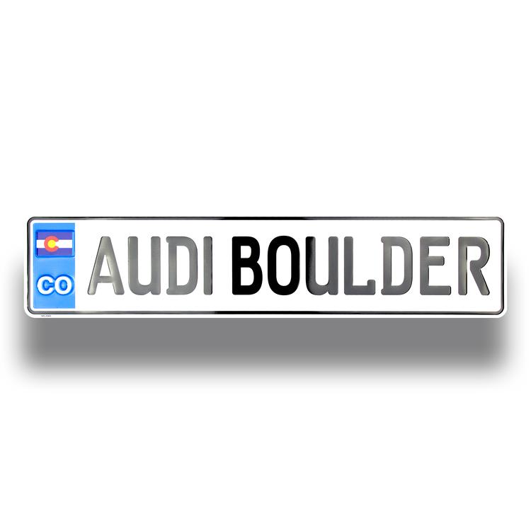 European License Plate (Embossed)