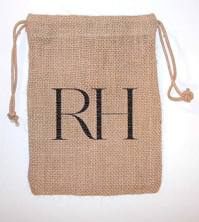 Colored Jute/ Burlap Drawstring Bag 5x6