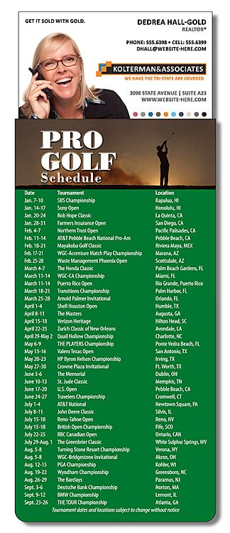 Magna-Card Business Card Magnet - Golf Schedule (3.5x9)