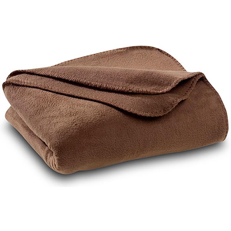 Brown Polar Fleece Throw Blanket