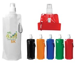 16 oz. Folding Water Bottle, Full Color Digital