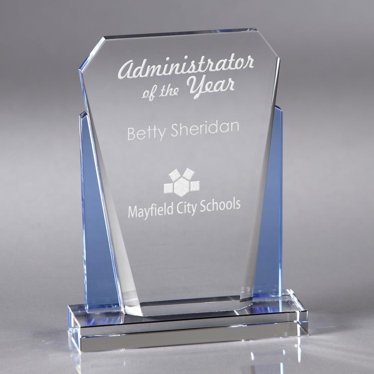 Howard Miller Keystone - Small crystal award