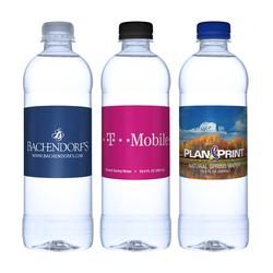 16.9 oz. Bullet Bottle Custom Label Water Bottle - Bullet Bottle