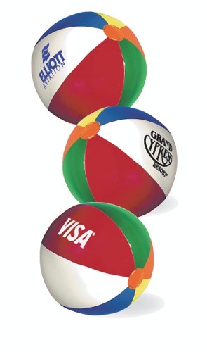 6 Multi-color Beach Ball (Beachball)