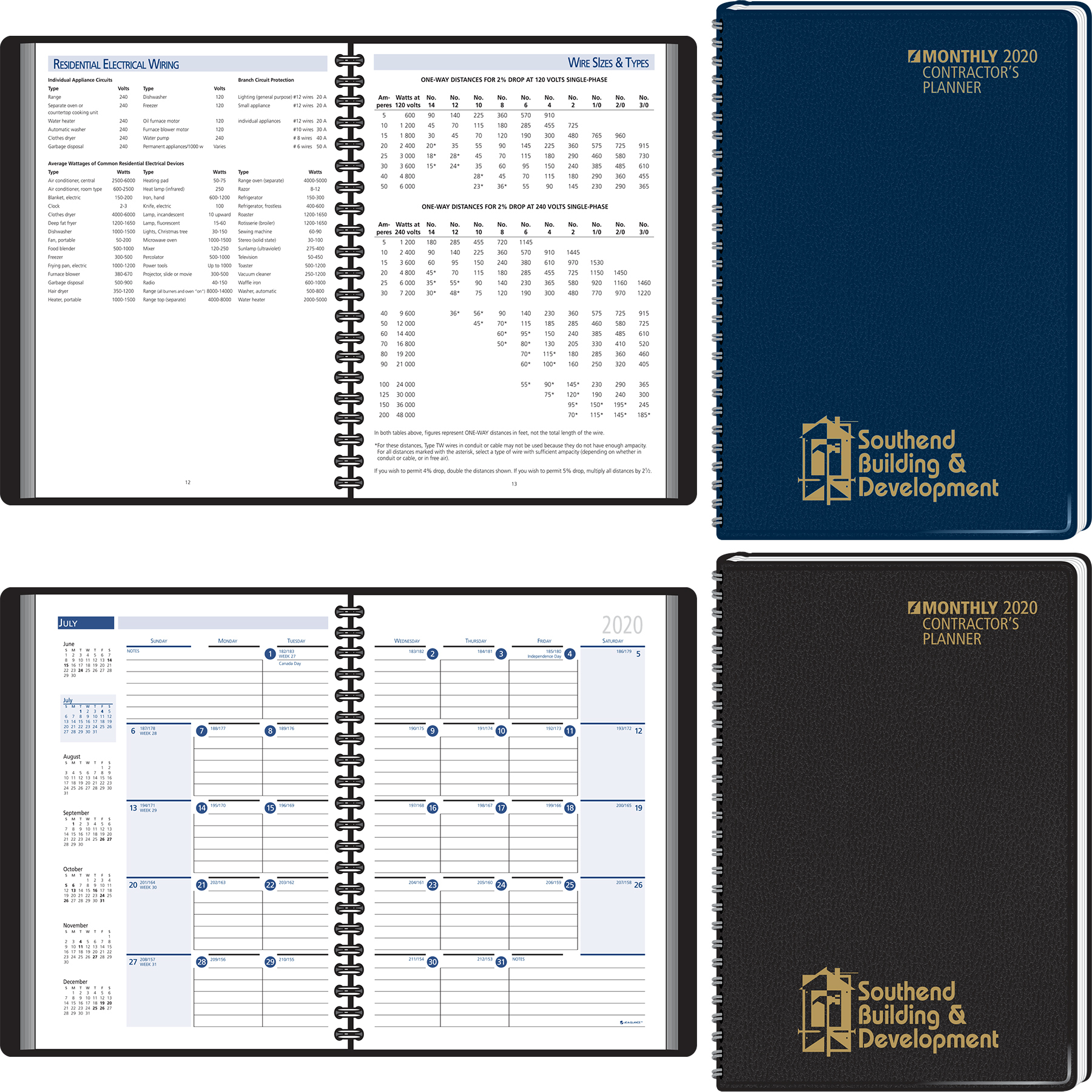 Contractor's Planning Manual Monthly Planner 2020