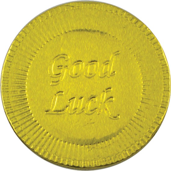 Good Luck Chocolate Coin