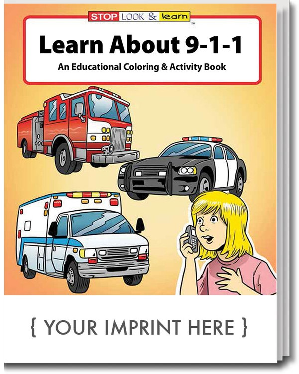 COLORING BOOK - Learn About 911 Coloring & Activity Book - 0200 ...