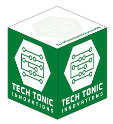 Ad Cubes™ - Memo Notes - 3.875x3.875x3.875-1 Color, 1 Design on Sides - 1 Color, 1 Design on Sides