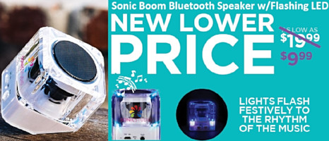 custom logo bluetooth speaker sonic boom promotional corporate gifts