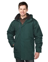 Men's heavyweight windproof/water resistant poly parka with EmbAccess™. - DROXFORD
