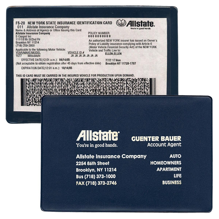 Xl Large Insurance Card Holder 809 Shawn Promotions
