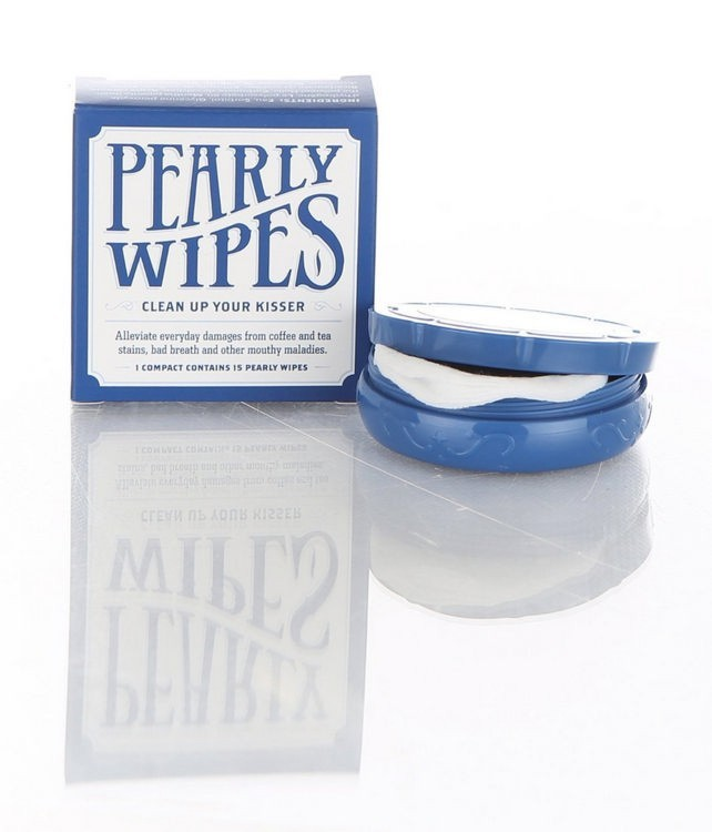 Pearly Wipes, Mirror Compact with 15 Peppermint Wipes