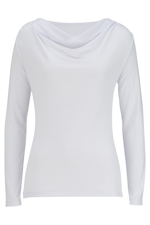 Ladies' Cowl-Neck Knit Top - Long Sleeve