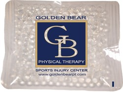 4.5 x 4.5 Clear, Gel Beads Cold/Hot Therapy Pack with up to a four color process imprint
