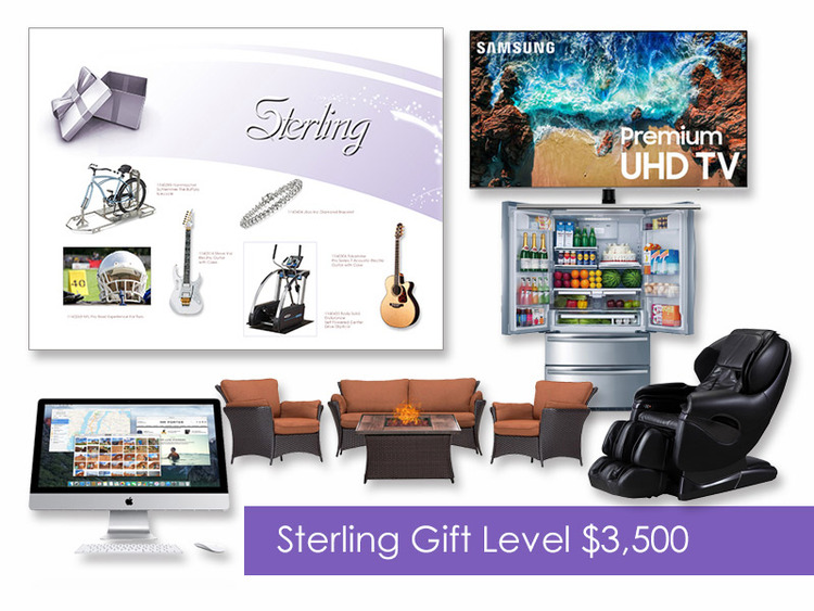 $3,500 Gift of Choice (Sterling Level) Gift Card