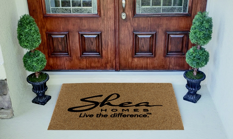 Flocked Faux Coir Door Mat