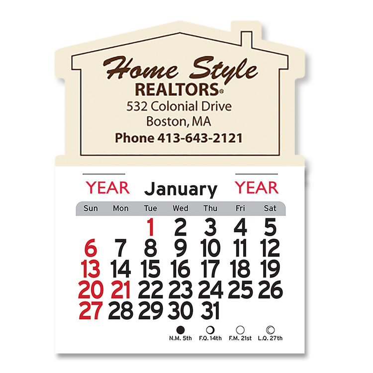 Magnetic Peel-N-Stick Calendars