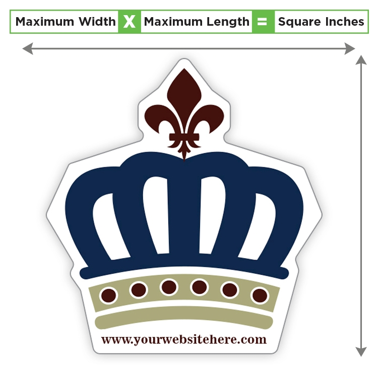 Custom Shape Magnet - 42.01 to 56 Square Inches - 30 Mil.