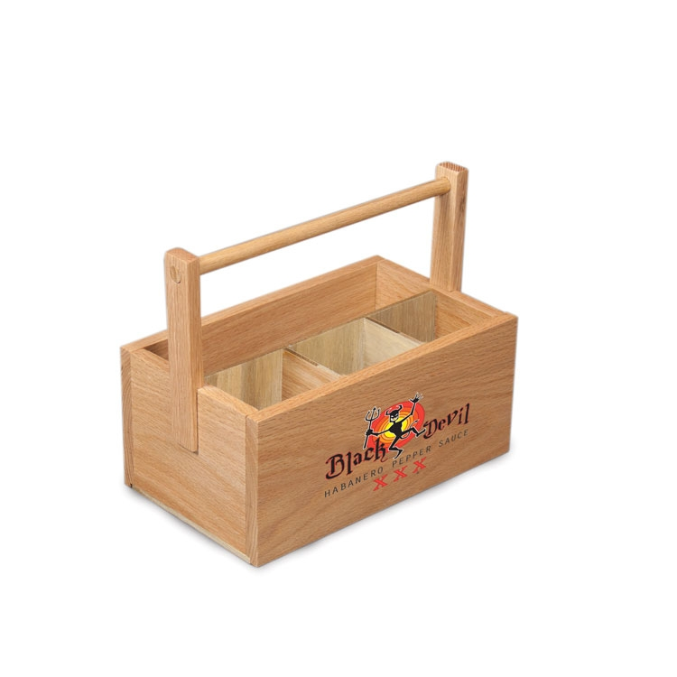 Condiment Caddy Basket (4 slot)with Handle - BPWTHC4 | Blouin Displays